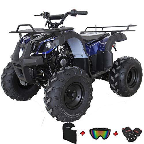 X-PRO ATV for Sale 125cc ATV Quad Youth 4 wheeler ATVs Big Kids Adults ATV Four Wheelers (Spider Blue)