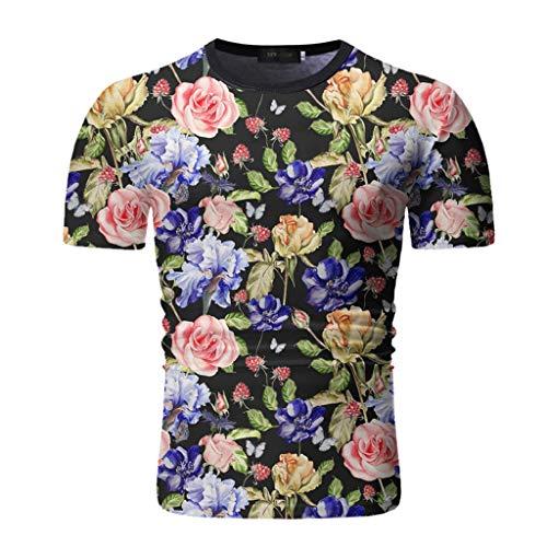 Yowablo Herren Poloshirt Polohemd Stehkragenshirt Kurzarmshirt Funktionsshirt Sportshirt Fitness Shirt Tee T-Shirt Sporthemd Trainingsshirt Sportswear T-Shirt (3XL,4Schwarz)