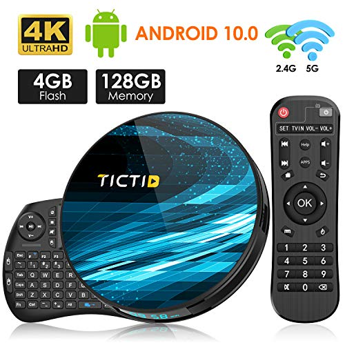 TICTID Android 10.0 TV Box T8 MAX【4G+128G】con
