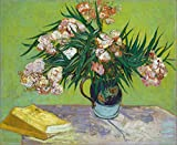Oleandros e Livros de Vincent van Gogh - 60x73 - Tela Canvas Para Quadro