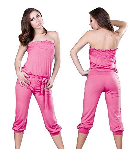 Dames jumpsuit overall eendelig broekpak badmode Catsuit roze joggingpak maat S/M