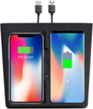【New Version】 Model 3 Wireless Charger Dual Qi Wireless Smartphone Charging Mat M3 Accessory for for Any Qi Enable Phone, Compatible with Tesla Model 3