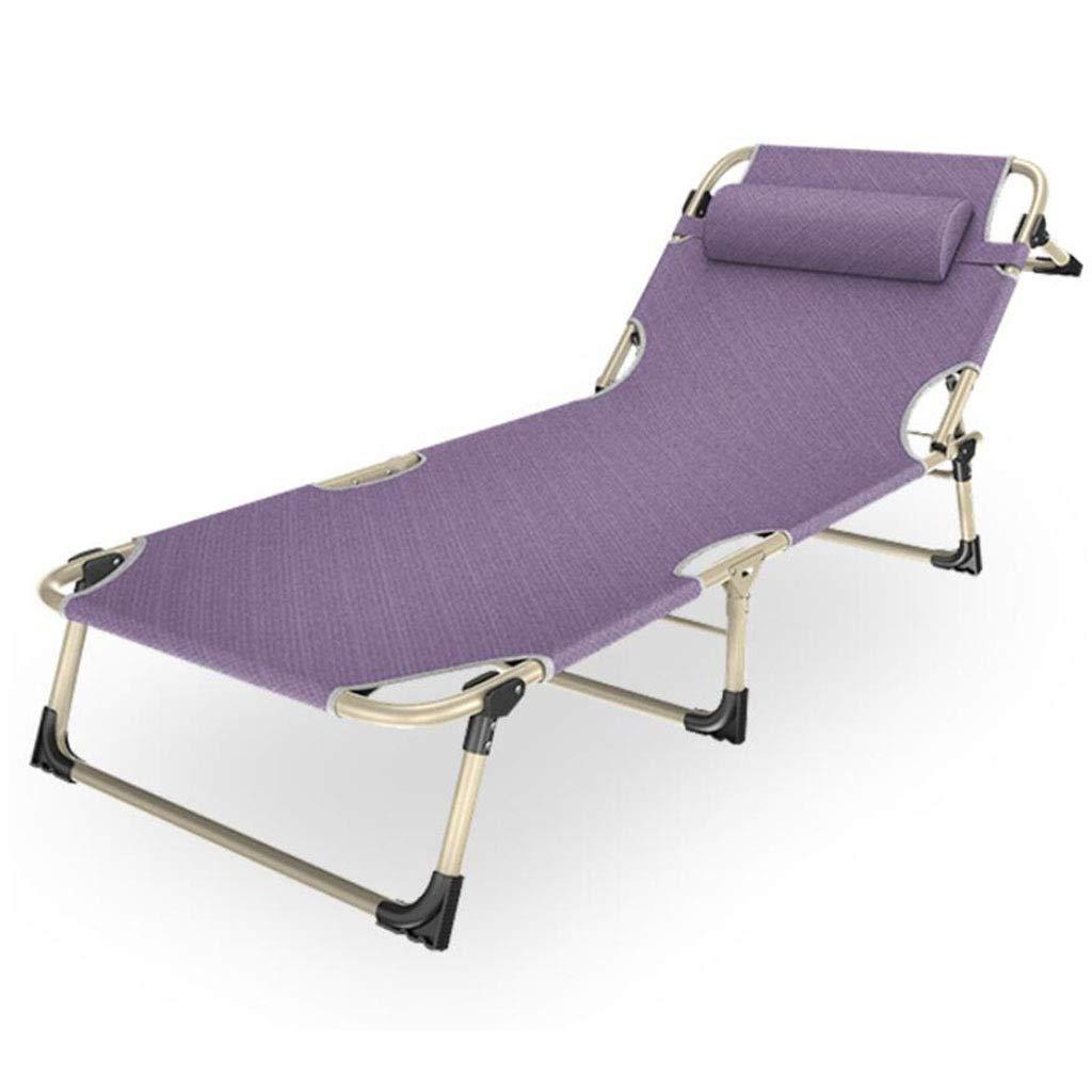 Transat Transat Violet 100 kg de Jardin Chaise Relax Chaise longue 5 réglages de Couchage Pliable