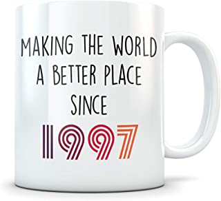 Funny 22nd Birthday Gift for Women and Men - 1997 Turning 22 Years Old Happy Bday Coffee Mug - Gag Party Cup Idea for a Joke Celebration - Best Adult Birthday Presents
