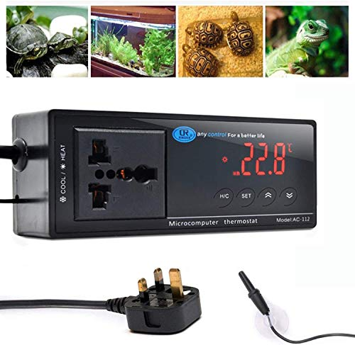 AWITHZ Reptile Thermostat, Terrarium Heaters Temperature Controller Outlet...