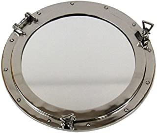 Firefly Home Collection Aluminium Porthole Wall Decor with Mirror, 20