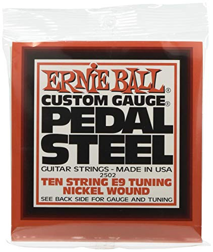 Ernie Ball Pedal Steel 10 cuerdas E9 Tuning Nickel Wound Guitarras eléctricas - 13-38 Gauge