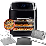 Aria Air Fryers AAO-890 Oven Air Fryer, 10Qt, Premium Black