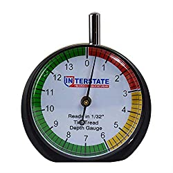 STEELMAN 97831 3 Color Ranges Coded Tread Depth Gauge  Reads both MM and 32nds