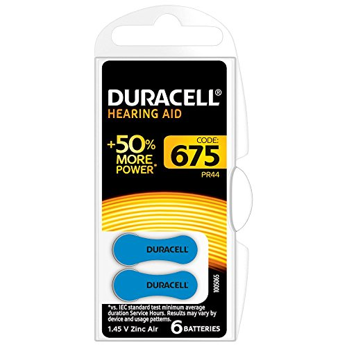 Duracell EasyTab 675 Zinc Air Hearing Aid Batteries - 600mAh - 60 Piece Retail Packaging