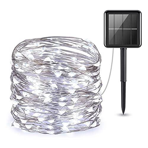 Zhantie Luces de cadena solares con 8 modos de iluminación decoración impermeable para la decoración del árbol de patio