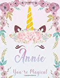 Annie: Personalized Unicorn Sketchbook For Girls With Pink Name. Unicorn Sketch Book for Princesses. Perfect Magical Unicorn Gifts for Her as Drawing ... & Learn to Draw. (Annie Unicorn Sketchbook)