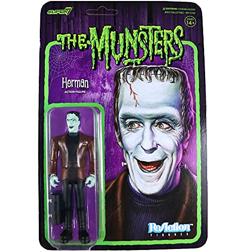 Super7 The Munsters Herman Munster Reaction Figure 3.75 inches
