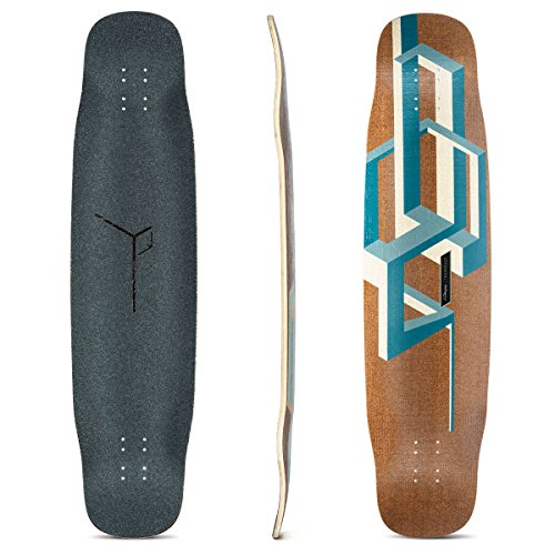 Loaded Boards Basalt Tesseract Bamboo Longboard Skateboard Deck (Dark Blue)