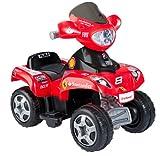 FEBER Ferrari - Quad électrique pour enfants de 18 mois à 3 ans, 6V, Rouge (Famosa...
