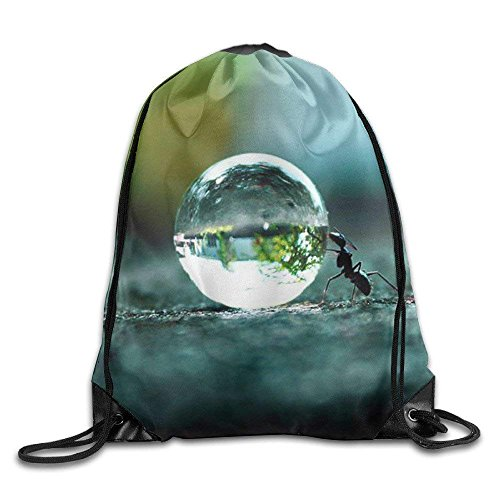 Yuanmeiju Delicious Cherry Drawstring Bag Backpack Draw Cord Bag Sackpack Shoulder Bags Gym Bag Large Lightweight Gym for Men and Women Hiking Swimming Yoga Bead Ant