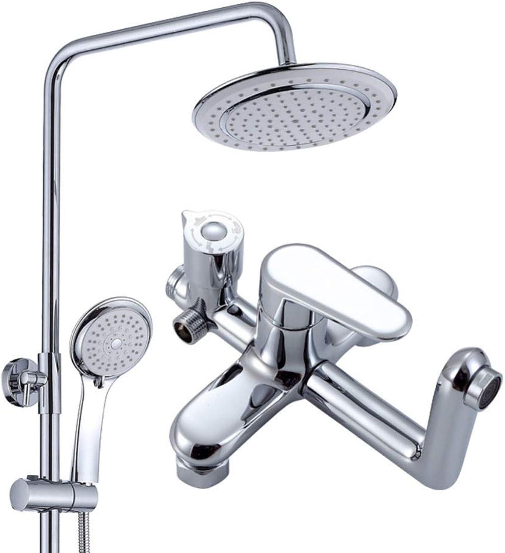 ZHH shower set wall mounted shower European style shower copper shower set hand shower bathroom shower