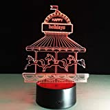 3D Luz de noche LED El mejor regalo de Navidad 7 colores Cambio automático Interruptor táctil...