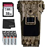 Bushnell Impulse Cellular Trail Camera (Verizon) 20MP+ 32GB SD Card + 12 AA Batteries and Lens Cleaning Cloth