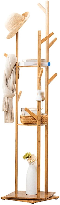 greenical Hanger Solid Wood Floor Bedroom Coat Stand Modern Minimalist redating 3 Storey Racks ( color   B )