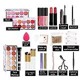 XIAMUSUMMER Kit de Maquillaje Todo en uno Juego de Regalo de Maquillaje Multiusos, Sombra de Ojos, rubores, Polvos, lápiz Labial y más, para Principiantes