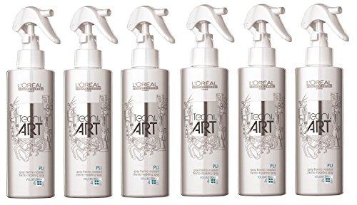Lot de 6 sprays thermiques Pli Tecni Art Loreal Professionnel Volume 190 ml = 1140 ml