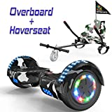 COLORWAY Overboard Hover Scooter Board Gyropode Bluetooth SUV 6.5 Pouces, Scooter Electrique Moteur 700W Tout-Terrain, Self-Balance Board avec Roues LED Flash + Hoverkart