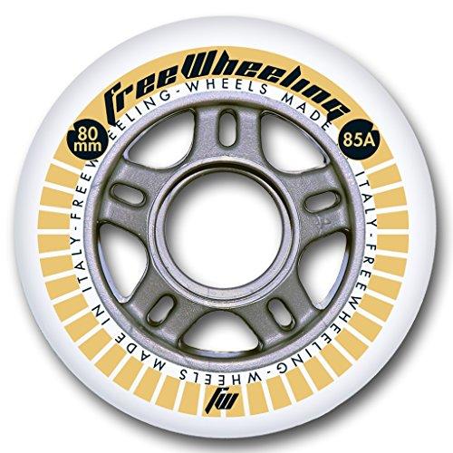 FreeWheeling 4-Pack Ruedas para Patines en línea Race 80mm 1117382