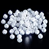 Xthuge 150pcs Mini Round LED Ball Lamp Balloon Light,Long Standby Time Ball Balloon Lights for Paper Lantern Balloon Light Party Wedding Decoration,Party Birthday,Festival Decorative Lights(White)…
