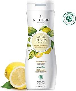 ATTITUDE Super Leaves, Hypoallergenic Regenerating Body Wash, Lemon Leaves, 16 Fluid Ounce
