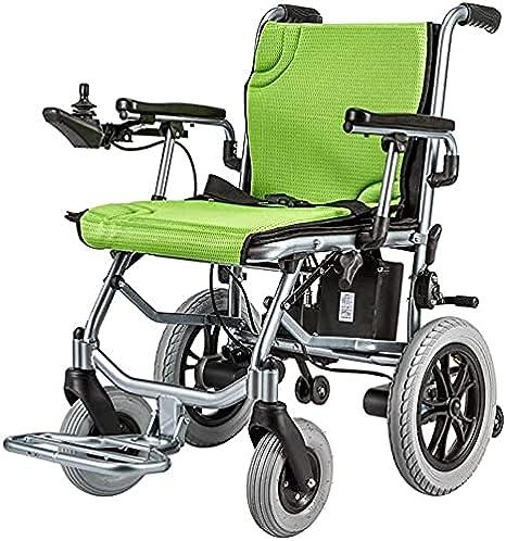 Silla de Ruedas eléctrica Batería de Litio Inteligente Silla de Ruedas Auxiliar Plegable Ligera de aleación de Aluminio para Ancianos y discapacitados