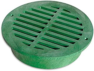 "National Diversified Sales 1250 12"" Round Green Sewer & Drain Grate"