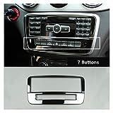 Story Black Center Console CD Frame Decoration Cover Fit Fit para Mercedes Benz Gla X156 CLA C117 A Clase W176 2013-2018 Acero Inoxidable (Color Name : 1 Piece)