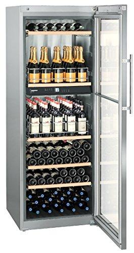 Liebherr WTpes 5972 Vinidor Libera installazione Cantinetta vino con compressore Acciaio inossidabile 155bottiglia/bottiglie A cantina vino