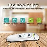 Thermomètre frontal et thermomètre auriculaire medical numérique. Thermomètres 5 in 1. Idéal pour les nouveau-nés, les enfants et les adultes. Lecture instantanée. Approuvé par la FDA. Modèle 2020 #2