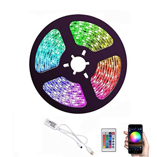 WiFi Smart LED Light Strip 3m / 10ft Phone APP Control Alimentato da USB Impermeabile flessibile Kit di illuminazione Lavora con Alexa Google Home for Home Party Decor