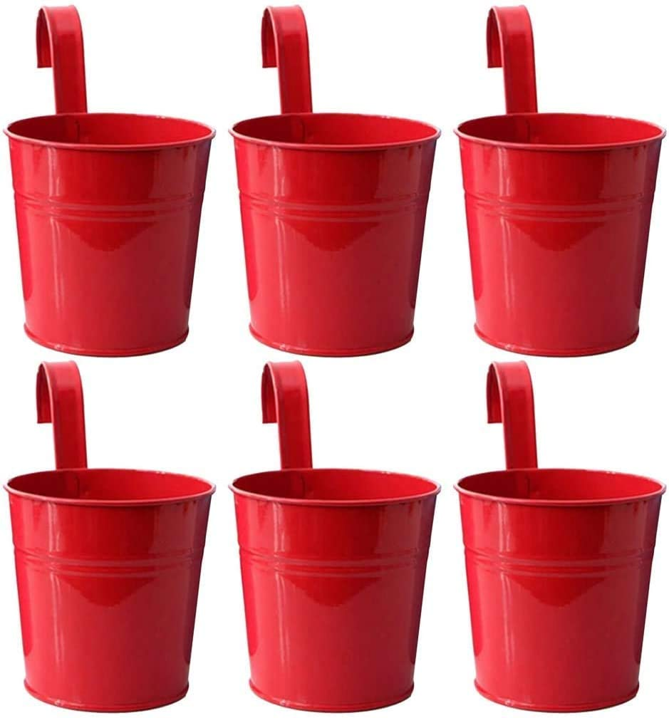 CYQ Hanging Large special price Flower Pot 6 Pieces with for Max 63% OFF Metal Bucket Planters
