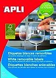 Apli Paper 3056 Etiquetas Adhesivas Blancas Multifunción Removibles 64,6x33,8 100H