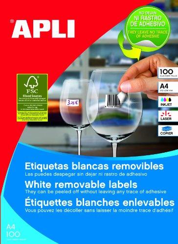 Apli Paper 3056 Etiquetas Adhesivas Blancas Multifunción Re