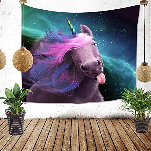 Achtergronddoek Achtergrond Wandtapijt Woonkamer Paard met Eenhoorn Dekbed Decoratie