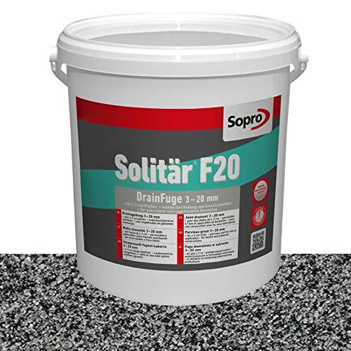 Sopro Designfuge Solitär F20 Pflasterfugenmörtel (12,5 kg, Pflastergrau)