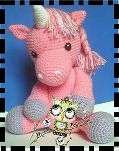 Unicornio al crochet (patrón) - YouTube | 500x394