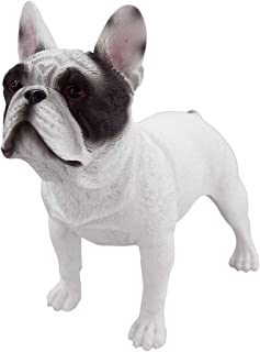 Artgenius Antique French Bulldog Figurine,Standing (White Panda)