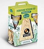 idee regalo confezione con formaggio parmigiano reggiano e mieli bio dop