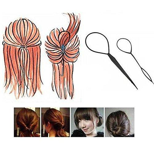 Ensemble Style Barrette Chignon Maker Cheveux Modèle Tourbillon Tressé 4 Pcs