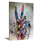 ★Graffiti Art Painting Size:12inchx16inchx1pcs(30cmx40cm),16inchx24inchx1pcs(40cmx60cm)(Poster only, Excluding Frame.) We have two sizes for you to choose from.The Joker modern painting contains 1-2 cm white frame, which is easy to install. ★Graffiti...
