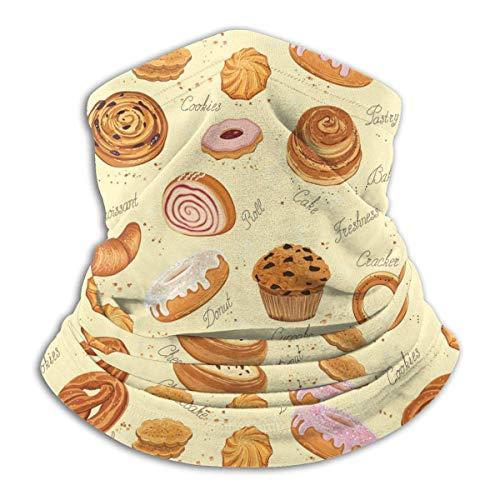 Lawenp Varios patrones de pasteles Bufanda de cara de calentador de cuello para clima frío para hombres y mujeres