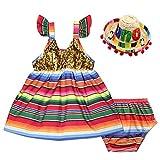 Fiesta Dress Bloomer Mini Sombrero Mexican Hat Set...
