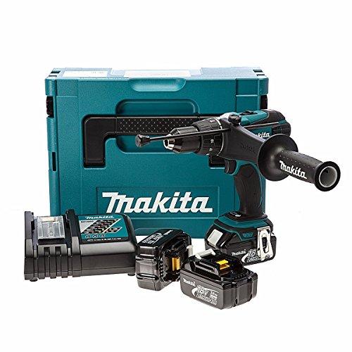 Makita DHP458RF3J - Taladro (Ión de litio, 18V, 22 min, 22,5 cm, 7,9 cm, 25,9 cm)