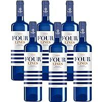 Four Lines Verdejo - 6 Botellas de 750 ml - Total: 4500 ml
